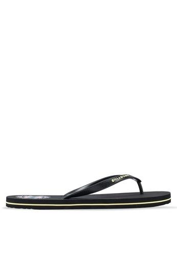 eb40afa22745 Billabong black Ooze Thong Sandals 7AFD9SH90E3B11GS 1