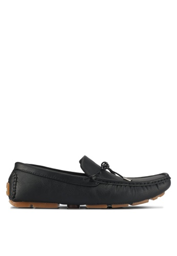 UniqTee black Driving Loafers With Lace 1A87CSH541A59AGS_1