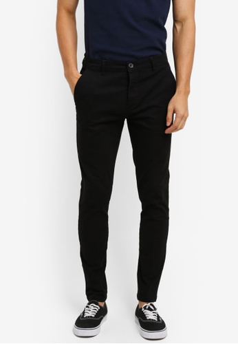 Topman black Spray On Chinos 25ABBAA203779FGS_1