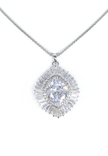 Her Jewellery white and silver Agapios Pendant (White Gold) HE210AC0FM1PSG_1