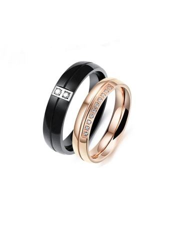 ADORA Stainless Steel Couple Rings AD365AC2VUQ6HK_1