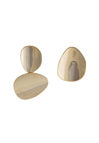 Wanderlust + Co Miro Disc Gold Earrings
