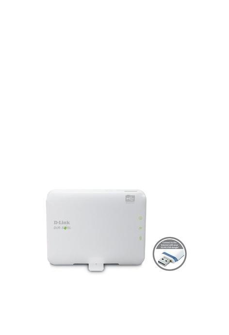 D-Link WiFi N150 迷你移動內置鋰電池路由器,可攜式袖珍雲路由器 無線路由器 便攜 無線訊號放大器 3G/4G LTE AP+Router N150Mbps 緊湊型 帶鋰電池 (DIR-506L)