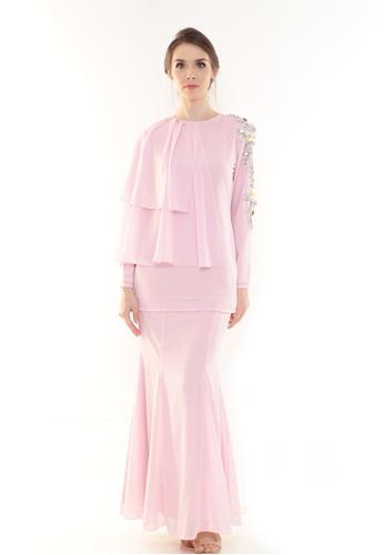 Rina Nichie Couture pink Ellie Kurung Modern in Soft Pink 8647FAA099F270GS_1