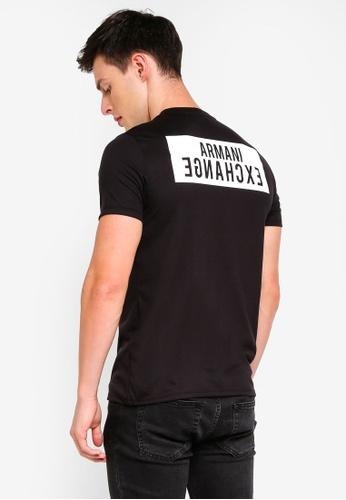 Armani Exchange black Back Logo V-Neck T-Shirt 66301AA18D79F6GS 1 f3ebe06678