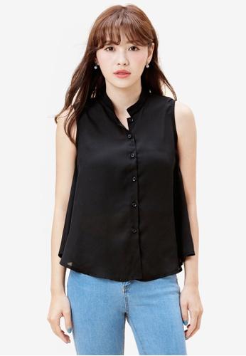 Tokichoi black Sleeveless Shirt 385EAAABB27135GS_1