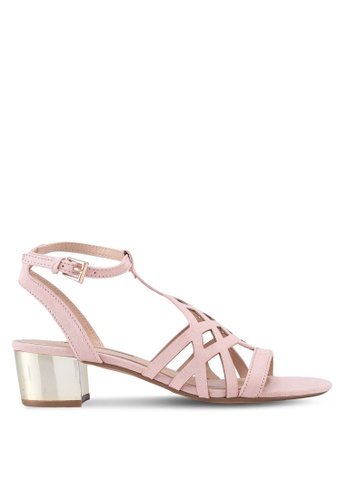 Dorothy Perkins pink Nude Sarah Heeled Sandals 330C2SH9628F9AGS_1