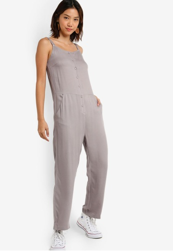 Something Borrowed 灰色 Pinafore Jumpsuit FE762AA6C71D42GS_1