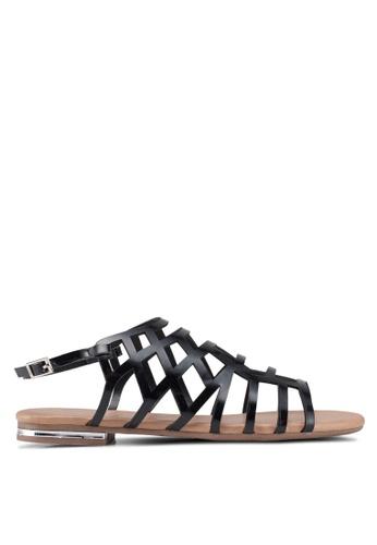 Nose black Strappy Sandals 1108DSHA7670D7GS_1