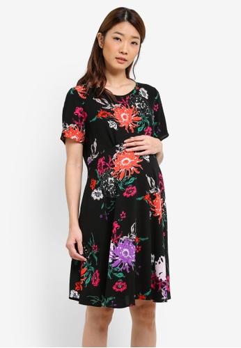 Dorothy Perkins black Maternity Black Cluster Floral DO816AA0S2JFMY_1