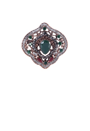 Glamorousky white Elegant Vintage Plated Gold Geometric Pattern Brooch with Cubic Zirconia AA781AC3369D5EGS_1