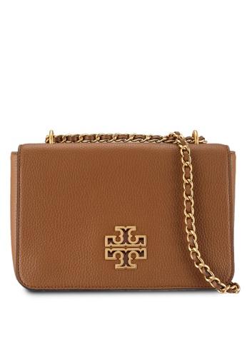 TORY BURCH brown Britten Crossbody Bag (NT) D796CAC753E0C9GS_1
