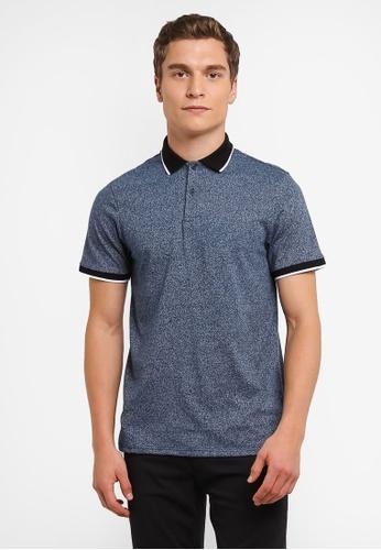 Burton Menswear London blue Mid Blue Blindle Polo Shirt BU964AA0RQOEMY_1