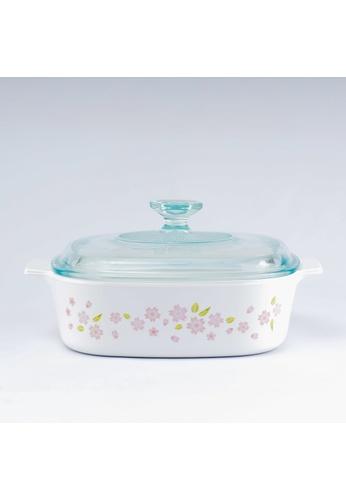 Corningware white Corningware 2L Covered Casserole - Sakura A4BD7HL16E014BGS_1