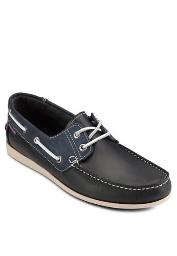 對比色拼接皮革船型鞋,esprit hong kong 鞋, 鞋