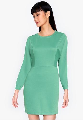 ZALORA BASICS green Knit Bodycon Dress 41014AAB50E548GS_1