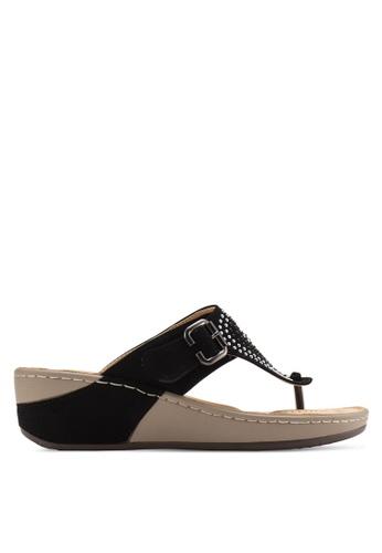 St3p black Casual Sandals ST395SH53KBUMY_1
