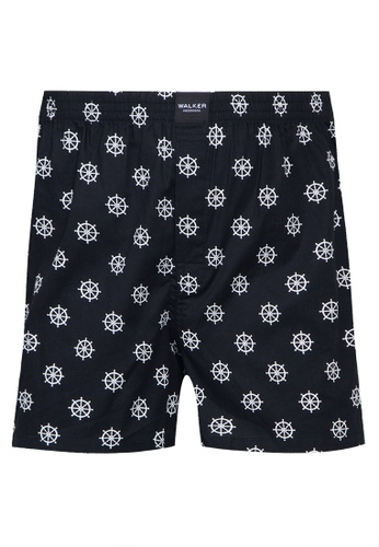 Walker Underwear black Printed Boxer Shorts F22F2US8D595B0GS_1