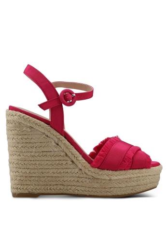 Mango pink Wedge Criss-Cross Sandals 2F375SHBCE85CDGS_1