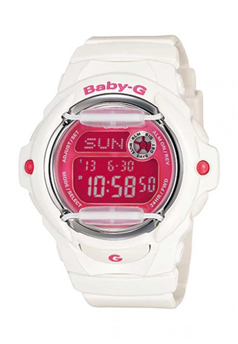 CASIO white Casio Baby-G Pink and White Resin Watch E98A8AC9D7D89CGS_1