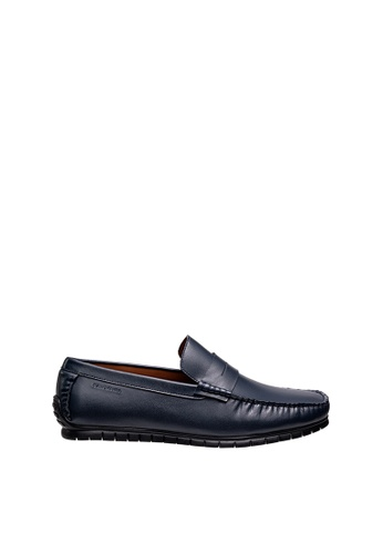 SEMBONIA blue Men Leather Loafer CA62CSHF293CDCGS_1
