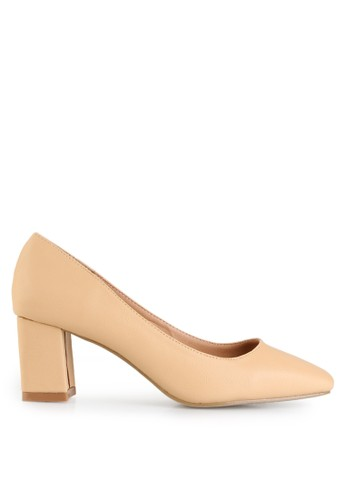 Mandy's beige Staccy Beige Heels MA947SH92LMHID_1