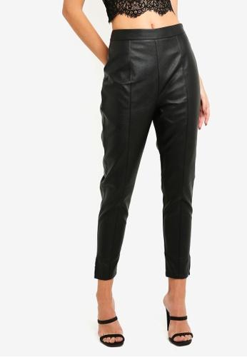 934d96bd199fc Buy MISSGUIDED Side Zip Detail Faux Leather Trousers | ZALORA HK