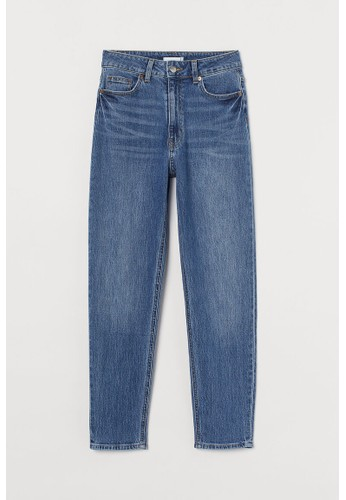 H&M blue Slim Mom High Ankle Jeans 8B624AAE4B5474GS_1