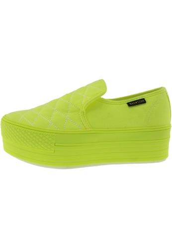 Maxstar 綠色 新款韩国鞋C50-7H-Stitch-All-Neon時尚帆布布混合女綠色 US Women Size MA345SH25GWCTW_1