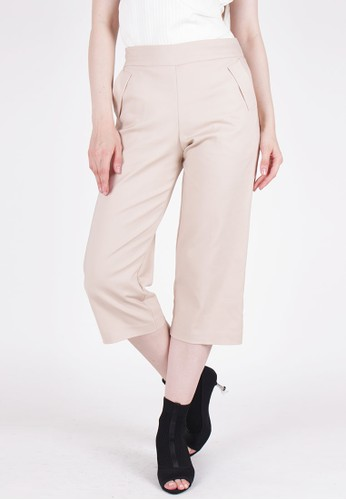 MAGNOLIA beige Cropped Trousers BE426AA598282CGS_1