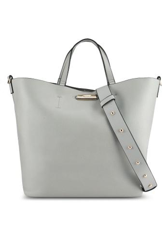 TOPSHOP grey Selina Soft Shopper Bag TO412AC0SHIKMY_1
