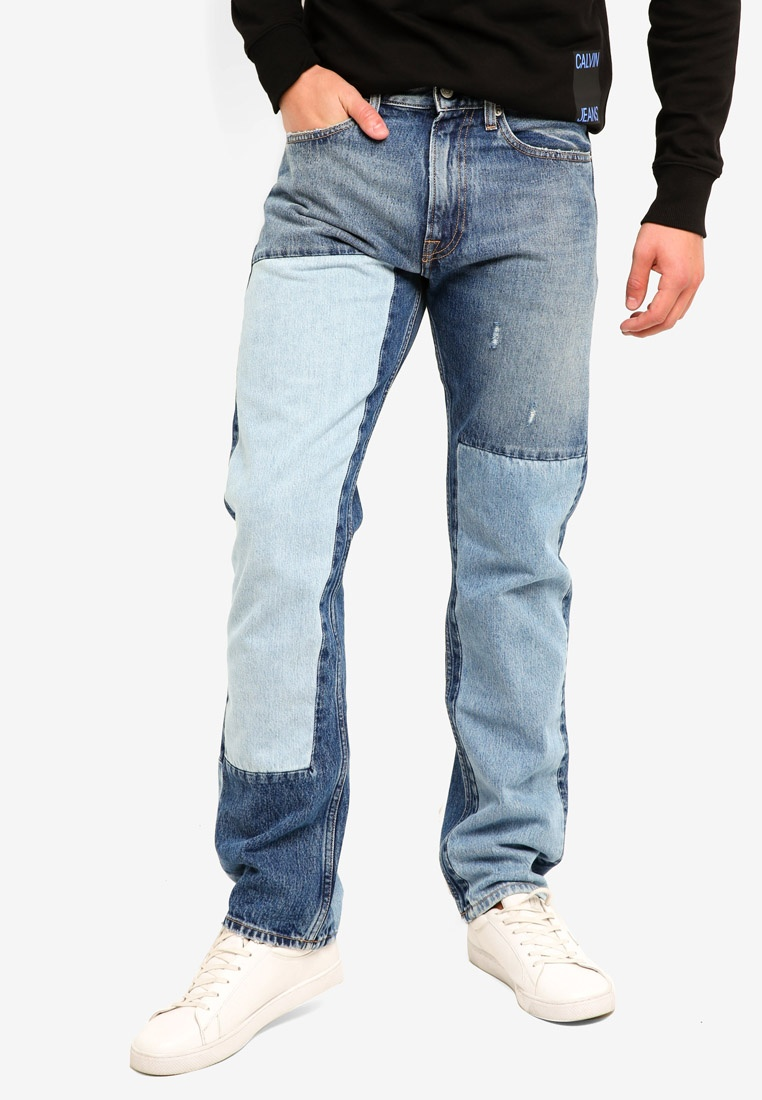 Jeans Calvin Calvin Klein Jeans Shanon Klein Straight 035 Blue Patch XwUqxPY