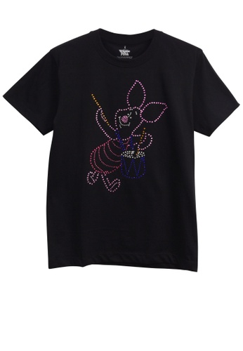 GOLDWOOD black DISNEY PIGLET STUDS T-SHIRT - BLACK 3EBE8AACF0AD09GS_1