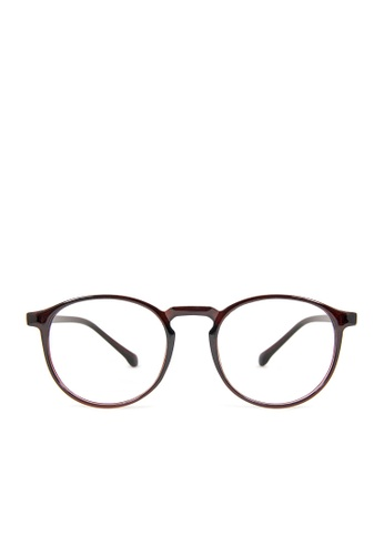 ASLLY brown Athena's Horn│Anti-blue light glasses with brown round frame 941F3GLC4D8AB7GS_1