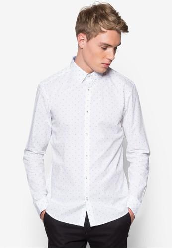 暗紋印花長袖襯衫, 服飾, 印花襯esprit 床上用品衫