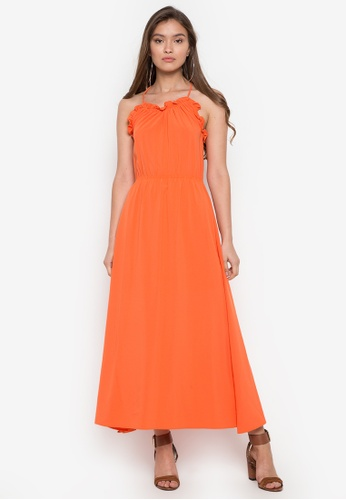 TM orange Calvary Maxi Dress C480EAA645E371GS_1