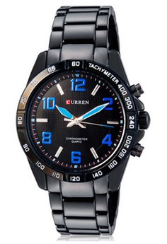 Curren 8107 Men Analog Quartz Sports Watch Tungsten Steel Men's Wrist Watch
