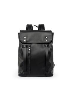 79a5c10b787 Lara black Men s Belt Flap Backpack 69479ACB721998GS 1