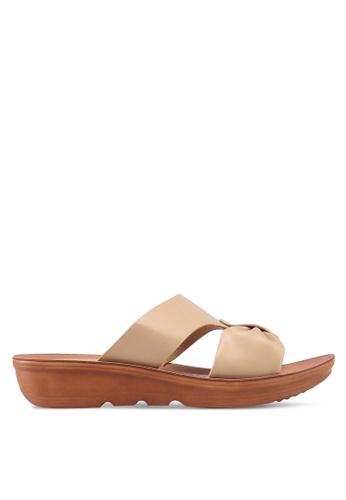 NOVENI 米褐色 Bow Sandals 50F49SH8CE7872GS_1