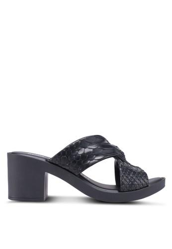 Melissa black Melissa Python Heel Baja East Ad Heels 5EA6DSH1EA3A55GS_1