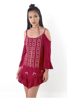 Emb Shoulder Cutout Tunic