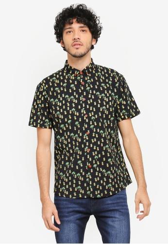 JAXON black Aloha Short Sleeves Shirt 1674FAADD661A6GS_1