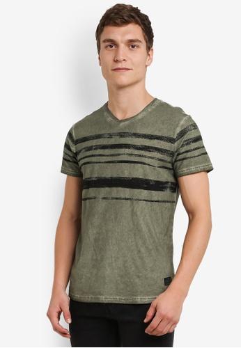 !Solid green Kass Streak Print T-Shirt SO701AA0S2VHMY_1