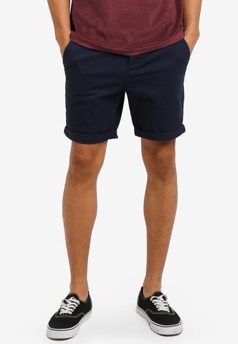 Topman 藍色 Stretch Slim Chinos AFC82AA1D80E4CGS_1