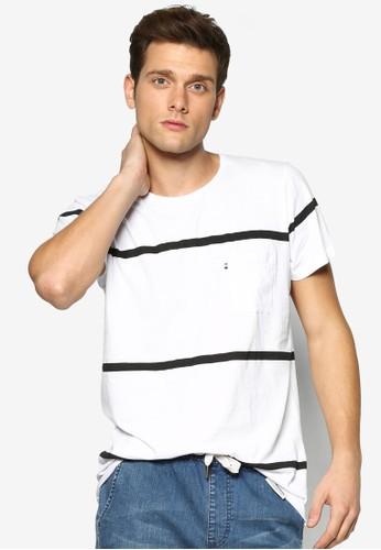 esprit台灣outlet條紋短袖TEE, 服飾, T恤