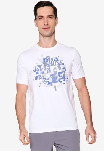 BOSS white Typography T-Shirt 724AFAAB5C50B5GS_1