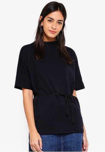 ESPRIT black Short Sleeve T-Shirt A3D5BAA8B88F1FGS_1