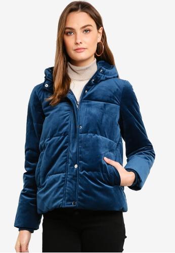 Vero Moda blue Paddy Velvet Short Jacket BE5F7AA78F60F9GS_1