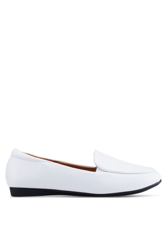 Louis Cuppers white Faux Leather Loafers FA54ASH456D37FGS_1