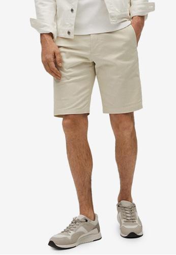 MANGO Man grey Cotton Chino Style Bermuda Shorts CAA70AA7D25AAFGS_1